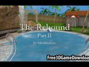 Three beautiful 3d cartoon babes have fun outdoors by the pool