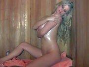 Nude Big titted blonde Jenny McClain in the sauna
