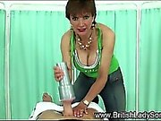 British femdom hottie makes pov cock cum