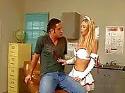 Nikki Benz gigantic blonde tits glazed