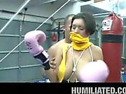 Milf brunette kick boxer dylan ryder with big boobs humiliated