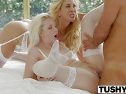 TUSHY First Anal For Cherie Deville and Samantha Rone