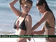 Faye and Larysa two ingenious stunning babes on the beach