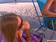 Trisha Uptown and her Lesbian friends on the beach