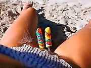 Nude Beach - Playing with Candy