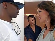 Franrceska Jaimes' white hubby opens her pussy from behind as