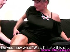 Euro agent gets oral on casting couch from horny client