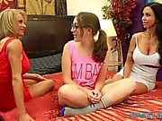 Jewels Jade & Raquel Sultra have les 3way with babysitter Nickey Huntsman