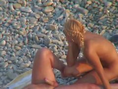 Busty Blonde Sex on the Beach