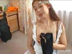 Sexy Misa Tachibana Asian Model Enjoys Getting Her Pussy Felt And Bj Cock