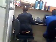 Girl In The Office With A Thong