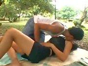 Thai girl fucked hard outdoors