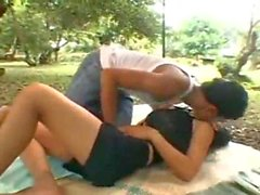 Thai girl fucked hard outdoors