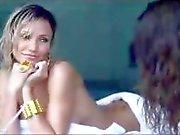 Cameron Diaz and Penelope Cruz cleavage and nip slip
