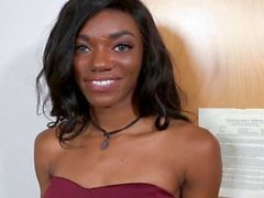TeenyBlack - Cute Black Teen Tries Porn
