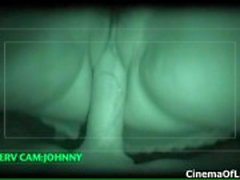 Nightvision action of a sexy black girl