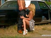 Tattooed Blonde Monique Alexander Fucks Outdoors