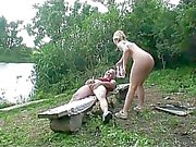 Grandpa gets lucky with babe
