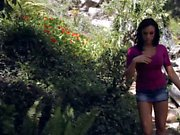 Cute Chanel Preston gets scared in the forest