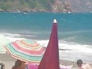 woman mature masturbate in beach