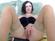 Busty Gianna Michaels having horny solo masturbation
