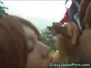 Japanese Girl Sucks a Papuan