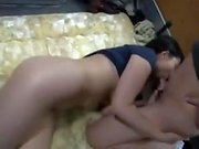Teasing busty japanese beauty pounded after outdoor blowjob