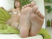 Alexis Capri shows off her sexy feet for you