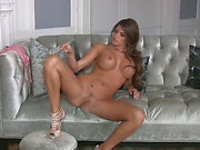 Chick with ideal pantoons Madelyn Marie threatening pulls off her pants