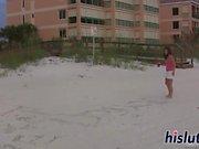 Hot babes flash boobies at the beach