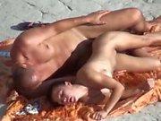 Hard Tits On The Beach