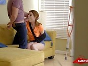Hot sister pov with creampie