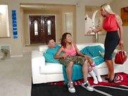 Alina Li shares her man with hot mom Nikki Benz