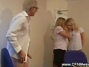 Secretaries let their boss eat pussy