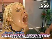 Gorgeous naughty girls getting fucked and jizzed by a bunch of horny men