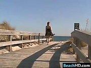 Upskirt At The Beach