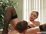 Selena Rose in hot lingerie bends over and gets thrashed