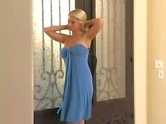 alison angel in blue dress