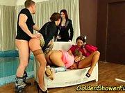 Golden shower loving babes