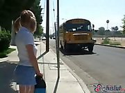 Misty Parks analed in a bus