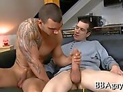 Gay stud sure knows how to suck a big dick