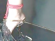Hatsuka Kobayashi tied up and teased until she cums