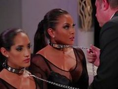 Slave threesome with Adriana Luna and Chloe Amour