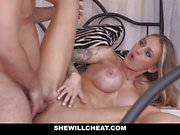 SheWillCheat Horny Wife Drilled by Husbands Employee