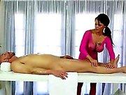 Brunette Peta Jensen gives Titty fucked