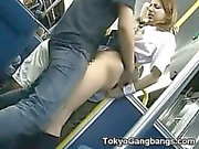Coed Gets Creampied by Pervert in a Bus!
