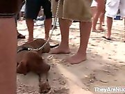 Horny beach girls getting dirty