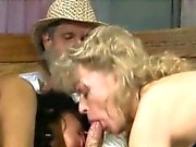 Threesome with an old timer
