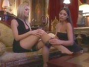 Long legged glamorous lesbians and a bottle