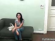 Nasty brunette goes to a sex casting part6